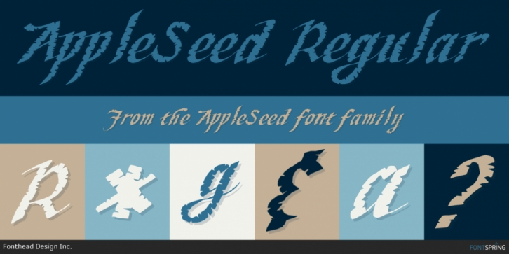 AppleSeed font preview