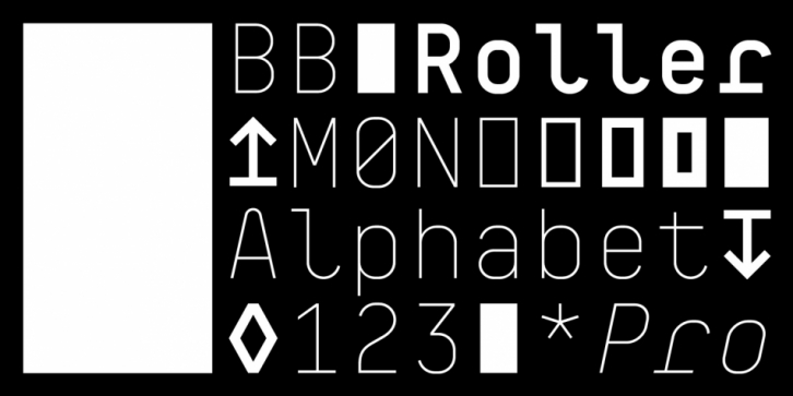 BB Roller Mono Pro font preview