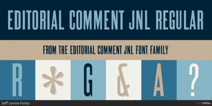 Editorial Comment JNL font preview