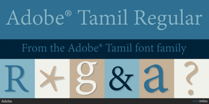 Adobe Tamil font preview