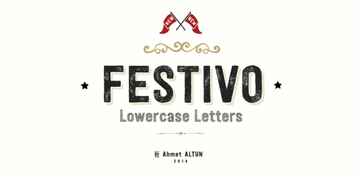 Festivo Lowercase font preview
