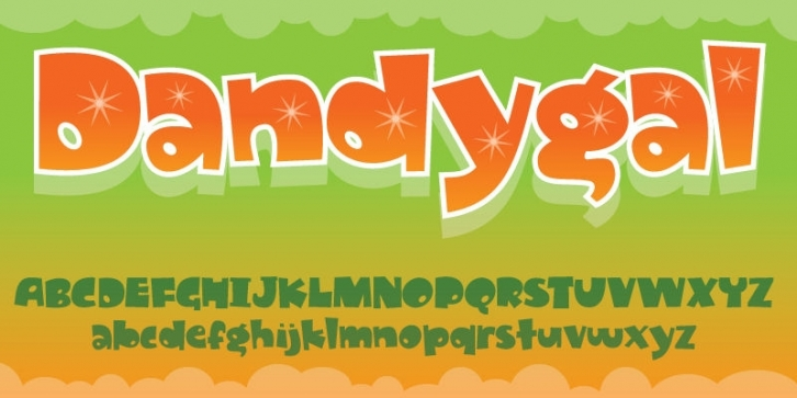 Dandygal font preview
