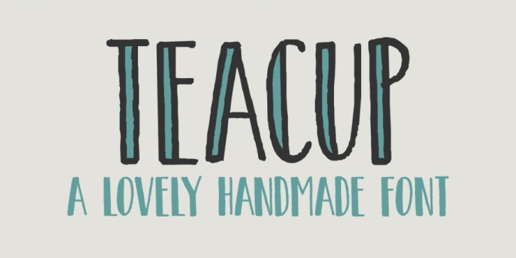 Teacup font preview