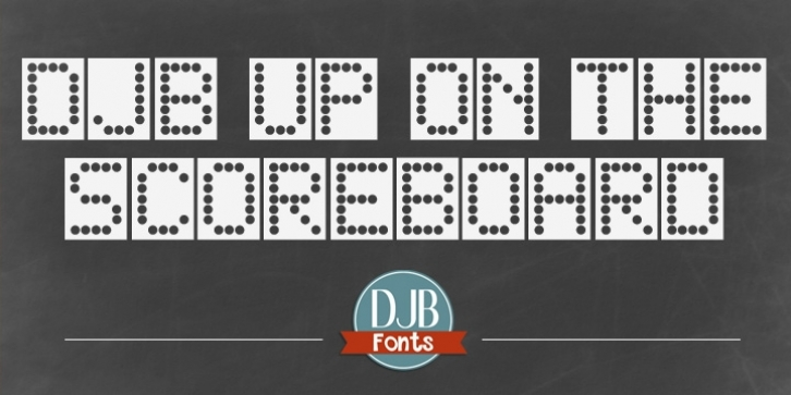 DJB Up On The Scoreboard font preview