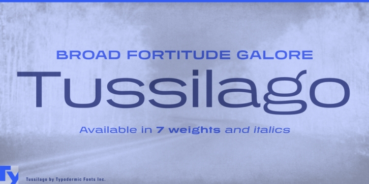 Tussilago font preview