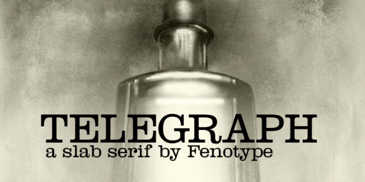 Telegraph font preview
