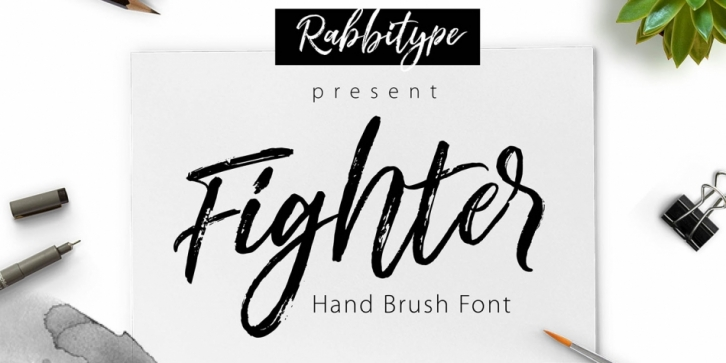 Fighter font preview