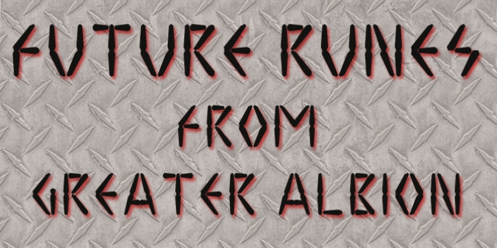 Future Runes font preview