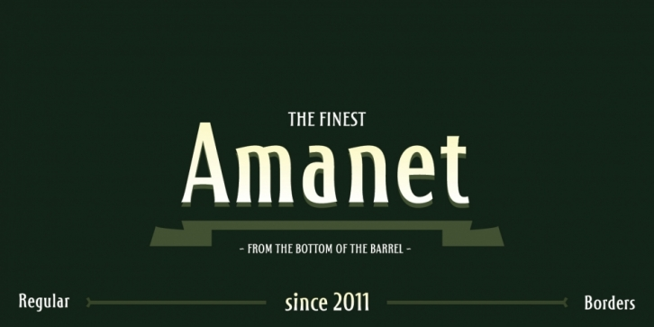 Amanet font preview