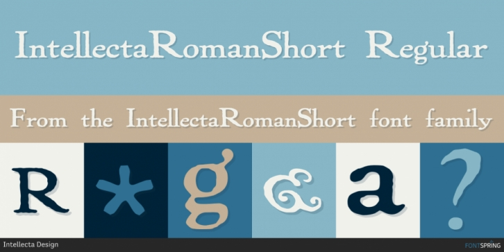 IntellectaRomanShort font preview