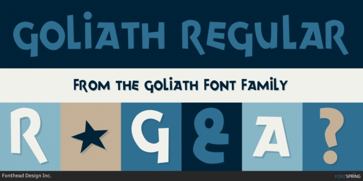 Goliath font preview