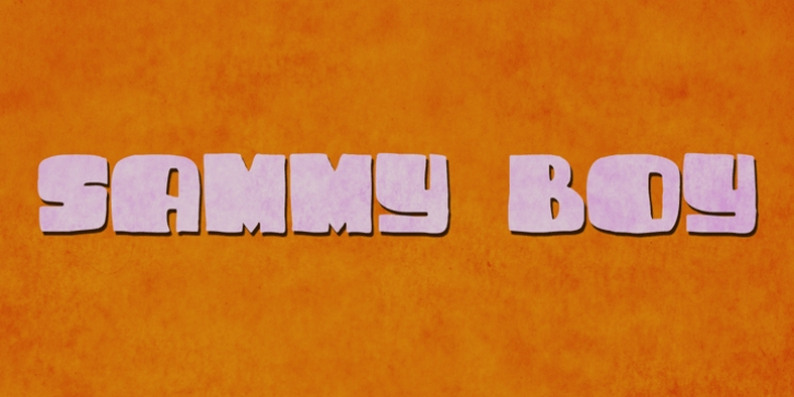 Sammy Boy font preview