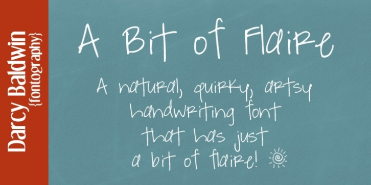 DJB A Bit Of Flaire font preview