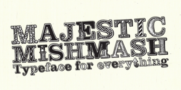 Majestic Mishmash font preview