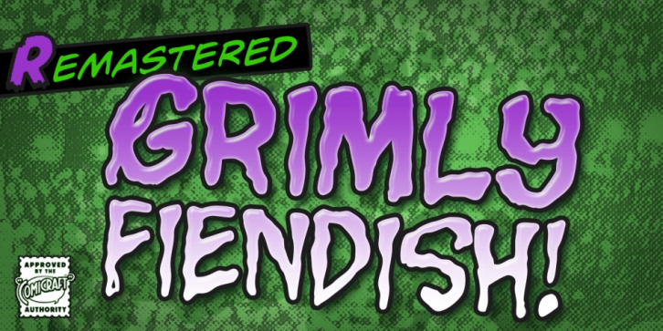 Grimly Fiendish font preview