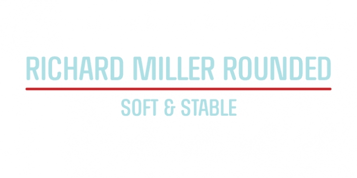 RICHARD MILLER ROUNDED font preview