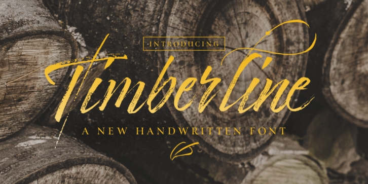 Timberline font preview