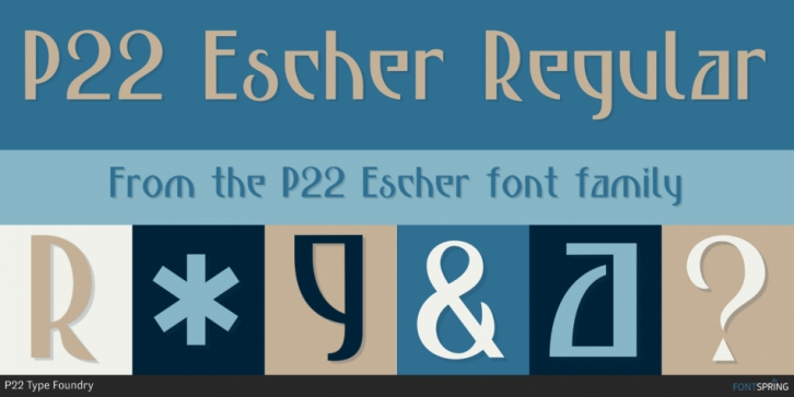 P22 Escher font preview