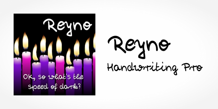Reyno Handwriting Pro font preview