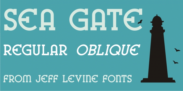 Sea Gate JNL font preview