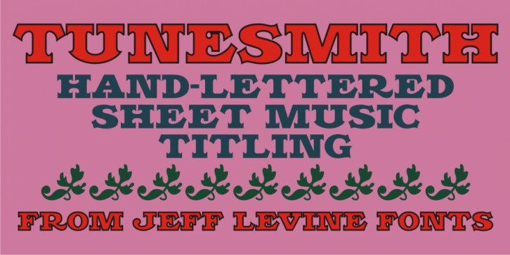 Tunesmith JNL font preview