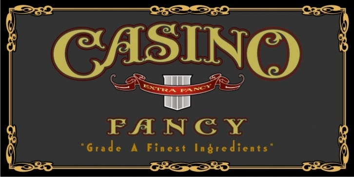 Casino Fancy font preview