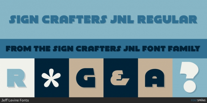 Sign Crafters JNL font preview