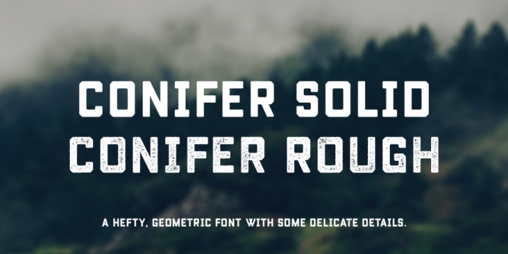 Conifer font preview