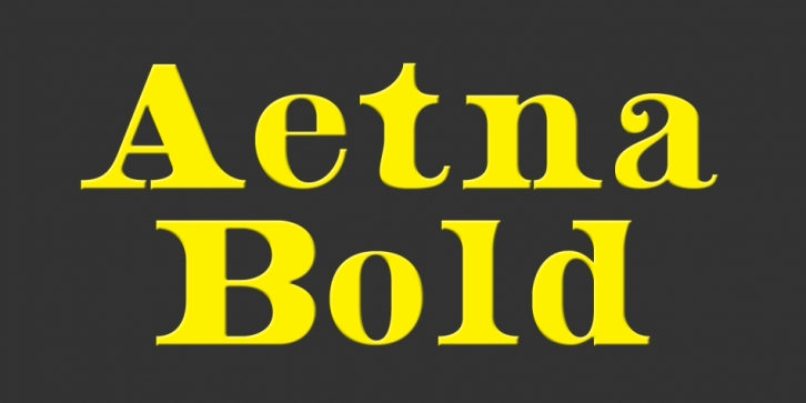 Aetna font preview