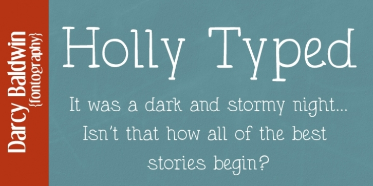 DJB Holly Typed font preview