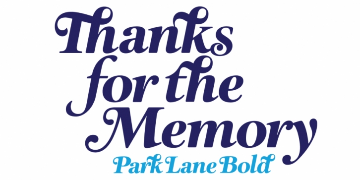 Park Lane font preview
