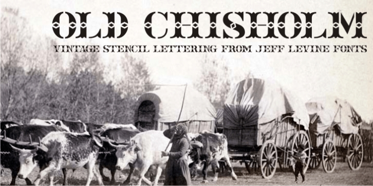 Old Chisholm JNL font preview
