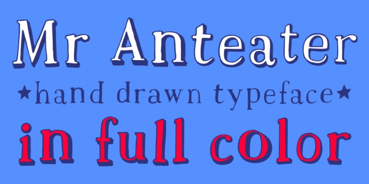 Mr Anteater font preview