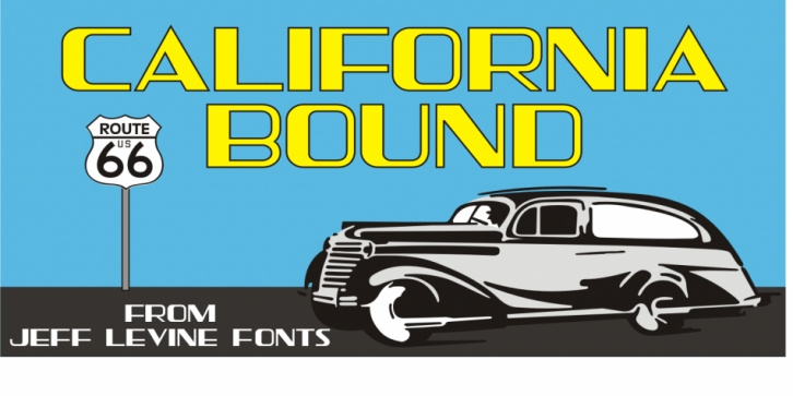 California Bound JNL font preview