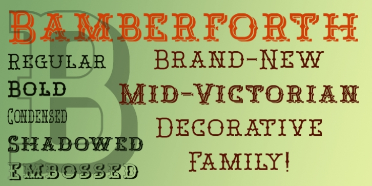 Bamberforth font preview