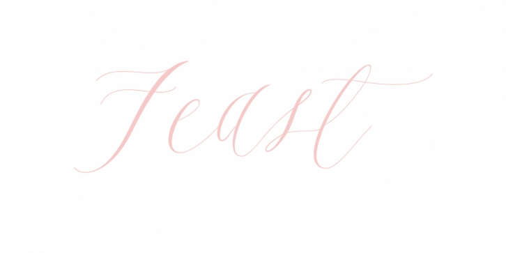 Feast font preview