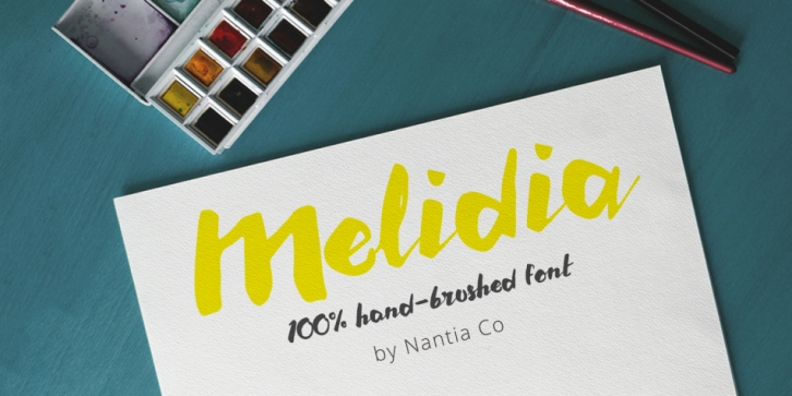 Melidia font preview