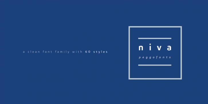 Niva font preview