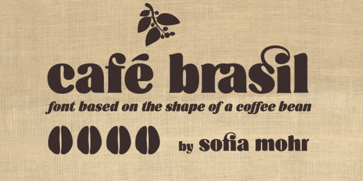 Cafe Brasil font preview