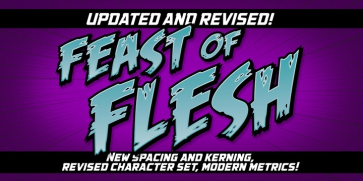 Feast Of Flesh BB font preview
