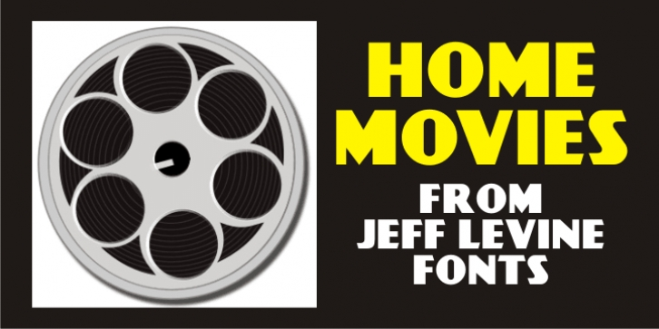 Home Movies JNL font preview